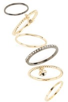 Topshop Women's Set Of 6 Rings