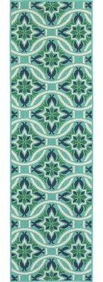 "Beachcrest Home Kailani Damask Mint Green Indoor/Outdoor Area Rug Rug Size: Rectangle 1'10"" x 2'10"""
