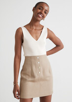 Thumbnail for your product : And other stories Fitted Buttoned Mini Skirt