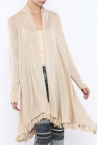 Mud Pie Tassel Trim Cardigan