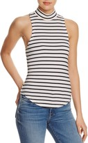 Frame Stripe Mock Neck Tank