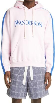 J.W.Anderson Logo Deconstructed Fleece Back Hoodie