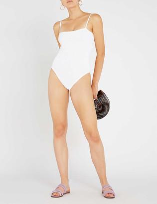 Hunza G Maria square-neck swimsuit