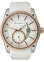 Rosegold Rinovati Women's RN0006 Fashion Small Second Big Date White Dial White Strap Watch