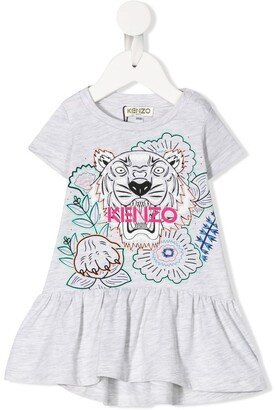 Kenzo Flared Tiger Logo Dress