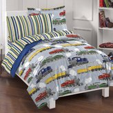Dream Factory Trains Ultra Soft Microfiber Boys Comforter Set, Blue, Twin
