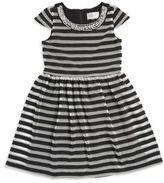 Us Angels Girls Embellished Striped Dress