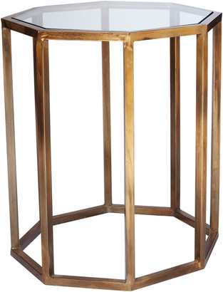 OKA Octagon Side Table, Small - Brass