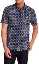 Jack Spade Short Sleeve Flower Tile Trim Fit Shirt