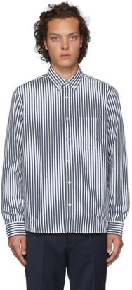 HUGO Navy Striped Ermann Shirt