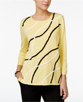 Alfred Dunner City Life Soutache-Trim Sweater
