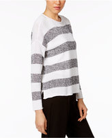 Eileen Fisher Organic Linen Striped Sweater