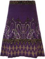 Etro ribbed intarsia skirt