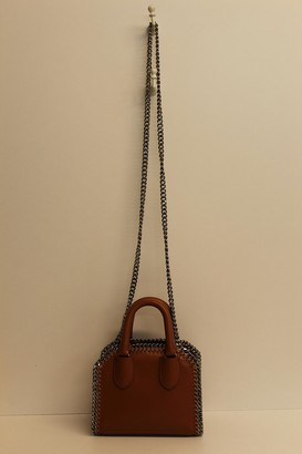 Stella McCartney Brown Top-Handle Mini Falabella Tote Bag w/Shoulder Strap