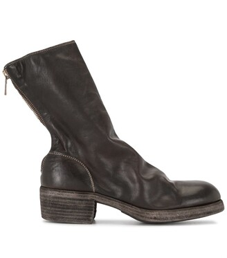 Guidi Zip-Up Leather Ankle Boots