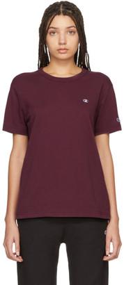 Champion Reverse Weave Burgundy Logo T-Shirt