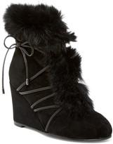 Cecelia New York Tori Genuine Fox Fur Wedge Boot