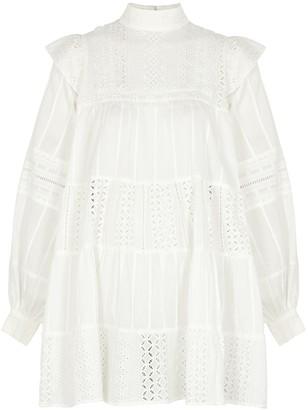 One Teaspoon Ritual white cotton mini dress