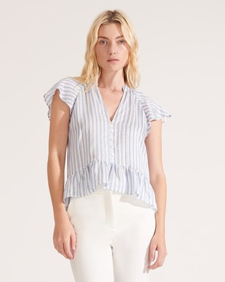 Veronica Beard Maple Striped Top