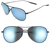 Salt Men's Mckean 59Mm Aviator Sunglasses - Black Sand / Mirror Blue