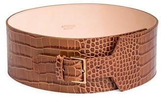 Agnona Croco-Embossed Corset Belt
