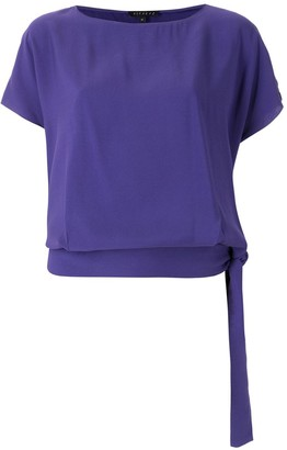 Alcaçuz Alissa side-tie blouse