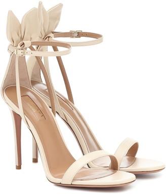 Aquazzura Deneuve 105 leather sandals