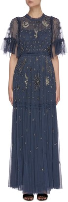 Needle & Thread 'Ether' galaxy stars bead embellished gown
