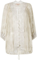 Ermanno Scervino lace trim cover-up - women - Silk/Polyester - S/M