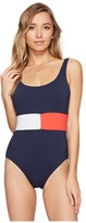 Tommy Hilfiger Retro Flag Flag Color Block One-Piece Women's Swimsuits One Piece