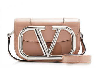 Valentino Garavani Supervee Small Patent Leather Shoulder Bag