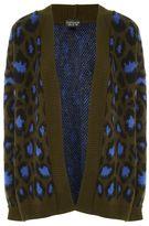 Petite leopard print cardigan