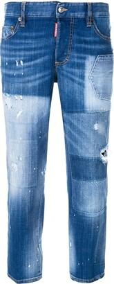 DSQUARED2 Distressed Boyfriend Jeans