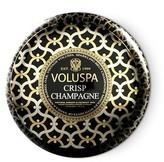 "Voluspa Maison Noir ""Crisp Champagne"" 2 Wick Printed Tin Candle"