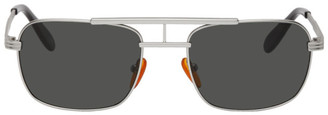 Han Kjobenhavn Silver Plane Matte Sunglasses