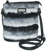 Adrienne Landau Women's Faux Fur Crossbody - Black Purses
