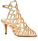 Vince Camuto Paxton Metallic Caged Sandals