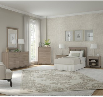 Bush Furniture Somerset Twin Size 6 Piece Bedroom Set by in Ash Gray