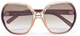 Chloé Misha Oversized Square-frame Acetate Sunglasses