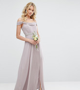 TFNC WEDDING Cold Shoulder Embellished Maxi Dress