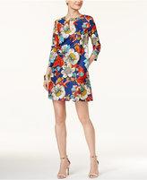 ECI Floral-Print Shift Dress