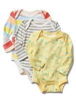 Gap Little artist long sleeve bodysuit (3-pack)
