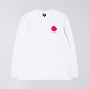 Edwin White Japanese Sun Long Sleeve T Shirt - XL - White