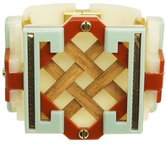 Gissa Bicalho Handmade Acrylic Bracelet Marajo Cream