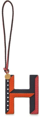 Mulberry Tri-Colour Leather Keyring - H Midnight Silky Calf