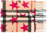 Burberry mini 'Classic' check and star print scarf - kids - Cashmere - One Size