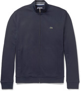 Lacoste Fleece-Back Cotton-Blend Piqué Zip-Up Sweatshirt