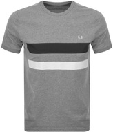 Fred Perry Crew Neck Bold Tipped T Shirt Grey