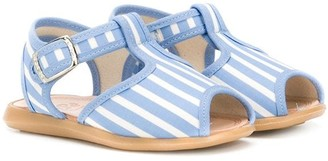Pépé Kids striped T-bar strap sandals