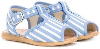 Pépé striped T-bar strap sandals
